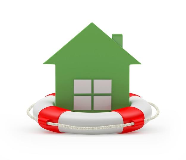Значок дома на спасательный круг