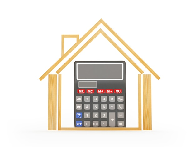 House icon with calculator inside