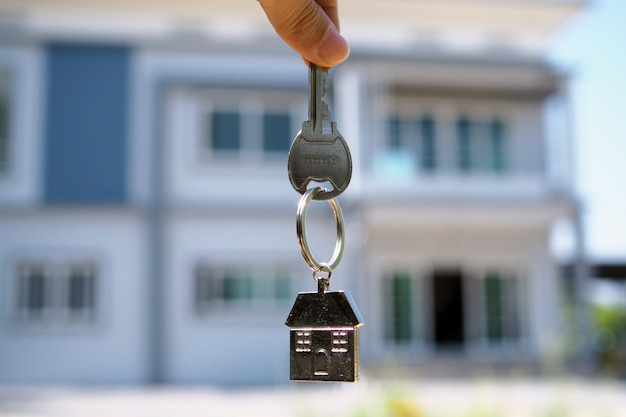 House key handle. rent a house, buy and sell ideas