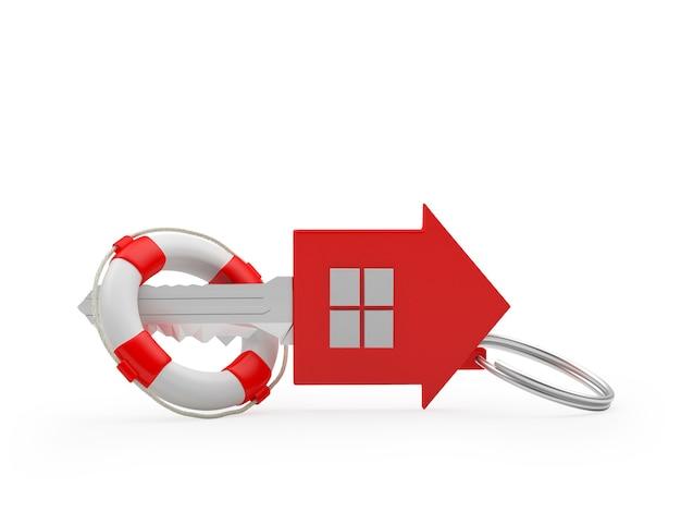 구명 부표의 집 열쇠. 3d
