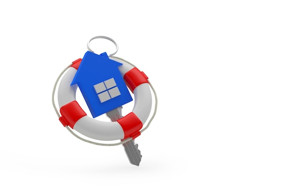 Ключ от дома в спасательный круг