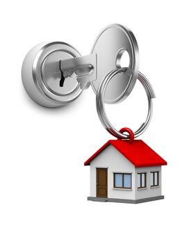 자물쇠에 집 열쇠