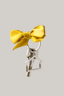 House key with red bow