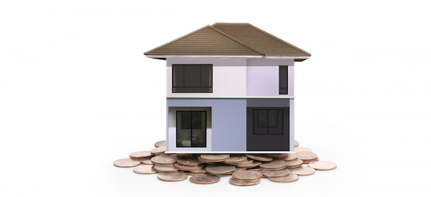 House model and coins