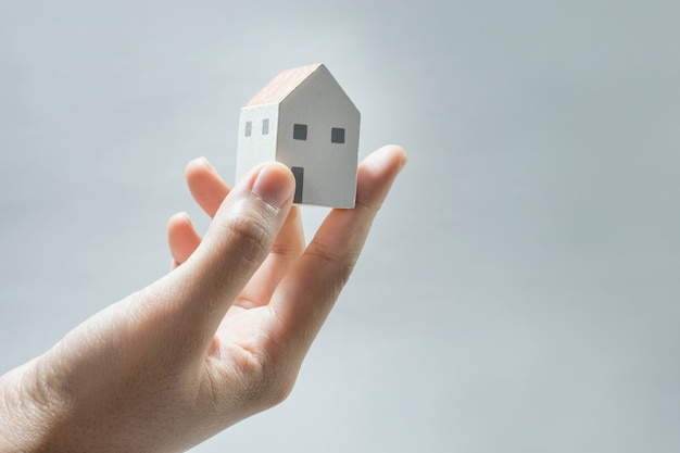 House model on human hands