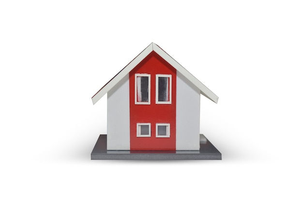 Модель дома на белом