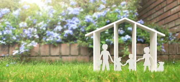 Модель дома есть пространство. концепция дома, жилья и недвижимости