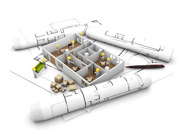 집 이동 및 개혁 개념