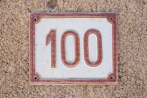 House number one hundred.