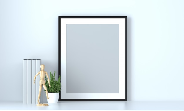 House and office objects blank scenario background 3d render
