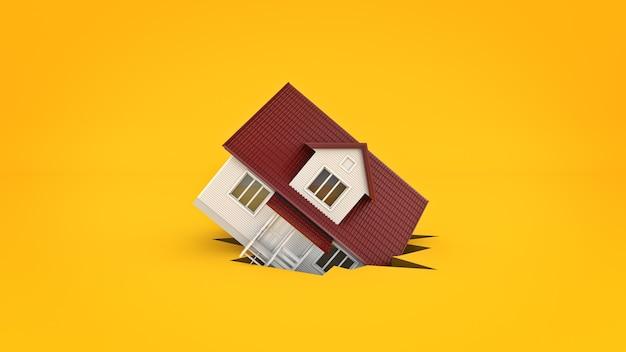 休憩のコンセプトの家3dレンダリング