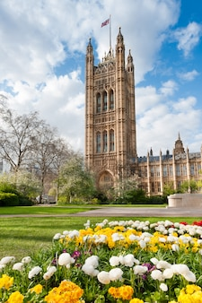 House of parlament in london in spring