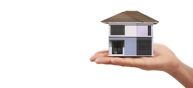 House residential structure in hand ,business home idea
