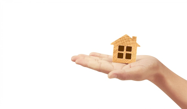 House residential structure in hand