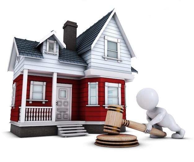 경매인이 판매 한 집