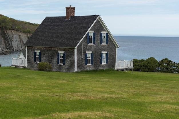 House at waterfront, st. margaret village, cape breton island, nova scotia, canada