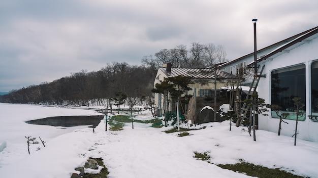 Дом с зимним видом