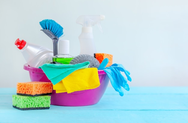 Housecleaning, hygiene, chores, cleaning supplies.