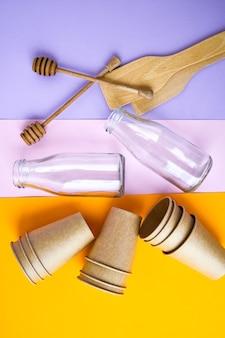 환경 보전 개념으로 재활용을위한 가정 쓰레기 분류