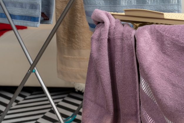 Household work. clean towel ready to use