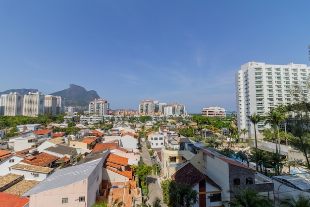 Houses and buildings in barra da tijuca in rio de janeiro brazil.
