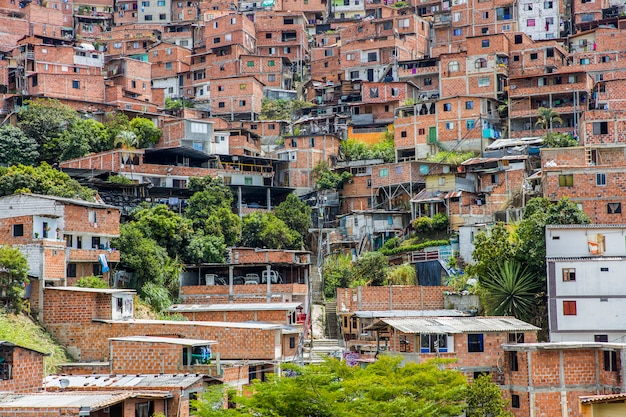 Houses at the city of medellin in antioquia, colombia