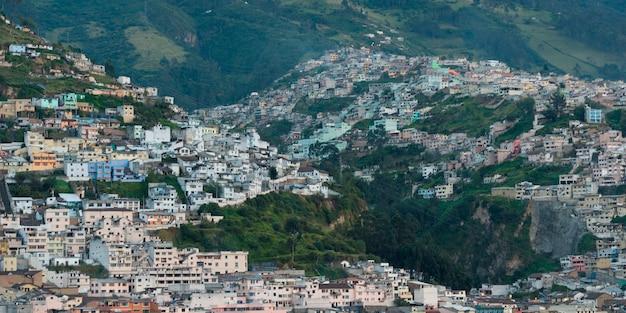 Houses in a city, quito, ecuador