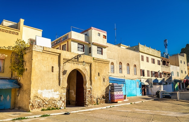 Houses in moulay idriss zerhoun, a town in morocco