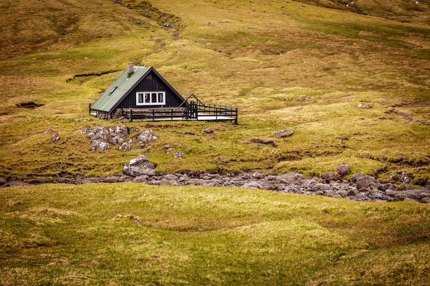 Houses in saksun faroe