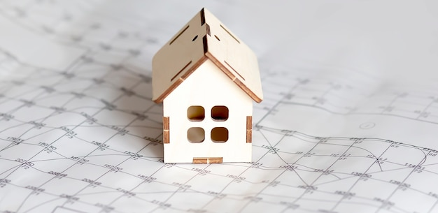 Housing market concept image with graph on the chart surface
