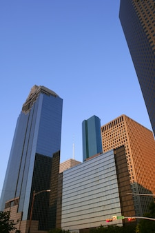 Houston downtown city urban buildings