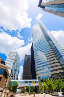 Houston skyline cityscape in texas us