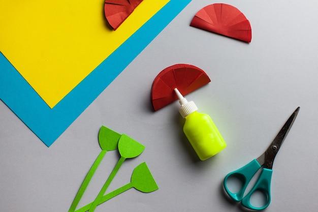 Как сделать аппликацию из бумаги цветов гвоздики в домашних условиях
