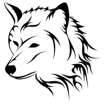 Воющий волк, изолированные на фоне. векторная иллюстрация