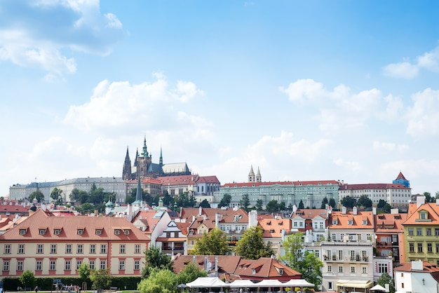 Hradcany is the praha castle with churches, chapels, halls and towers from every period of its history.
