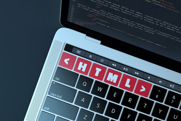 Html. web development concept