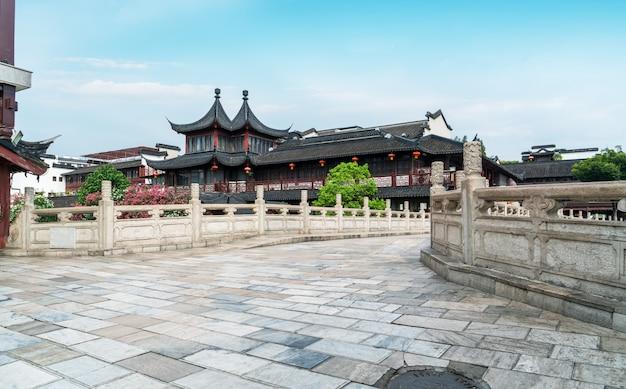 南京のhua河の古代の建築風景