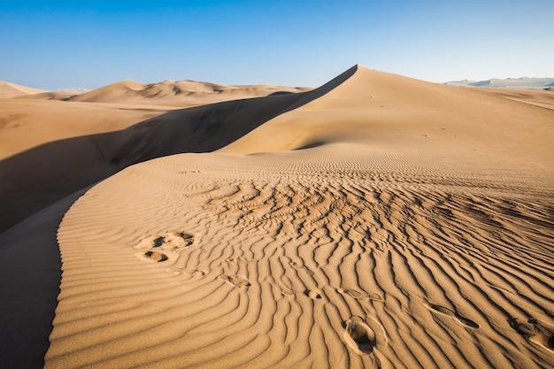 Huacachina desert dunes in peru