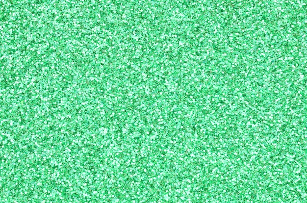 A huge amount of green decorative sequins.