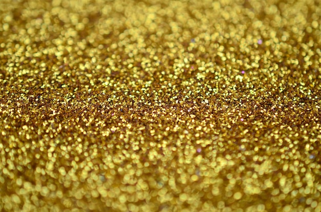 A huge amount of yellow decorative sequins