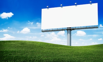 Huge blank billboard