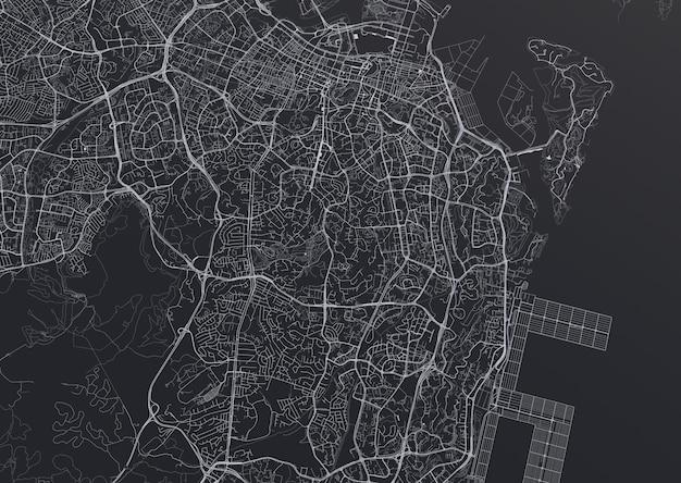 Огромный вид сверху на город. иллюстрация в повседневном графическом дизайне. фрагменты сингапура