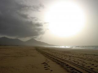 Huge cofete beach in fuerteventura  exterior