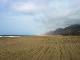 Huge cofete beach in fuerteventura  large
