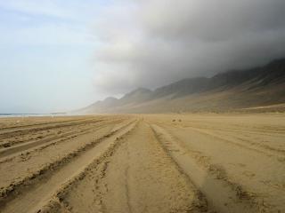 Huge cofete beach in fuerteventura