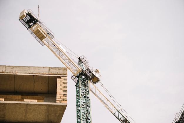 Huge crane on site