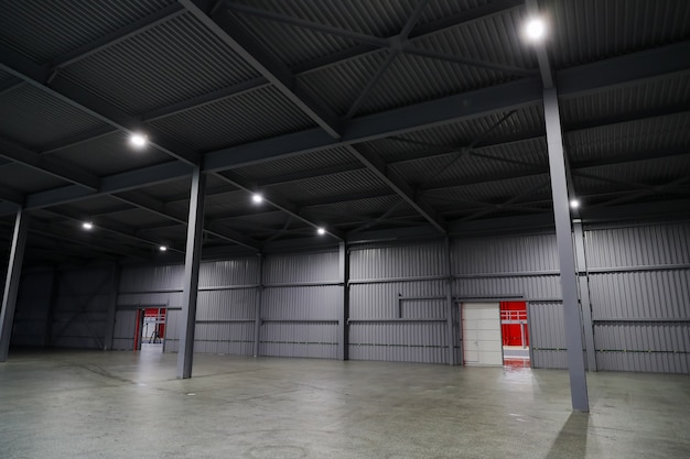 Huge hangar for storage of products at the enterprise