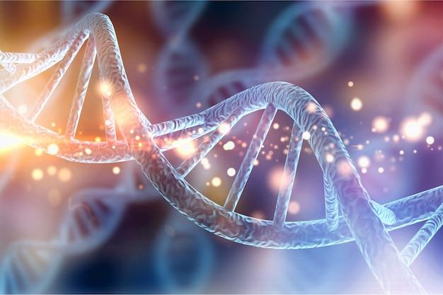 Иллюстрация молекулярной структуры нитей днк биологии клетки человека