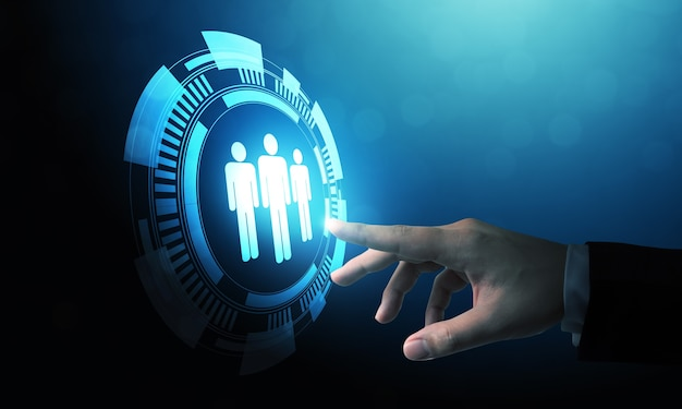 人的資源管理と採用雇用ビジネスコンセプト