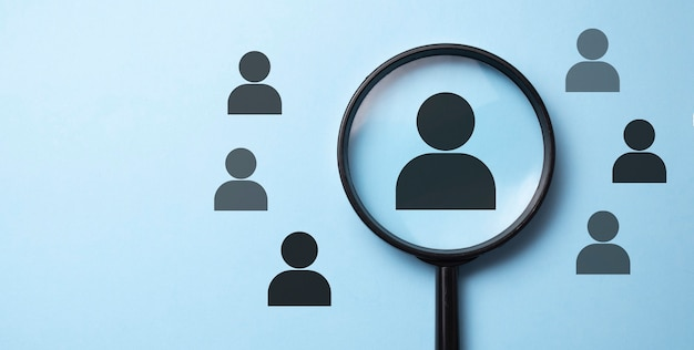 Human resources management and recruitment concept
